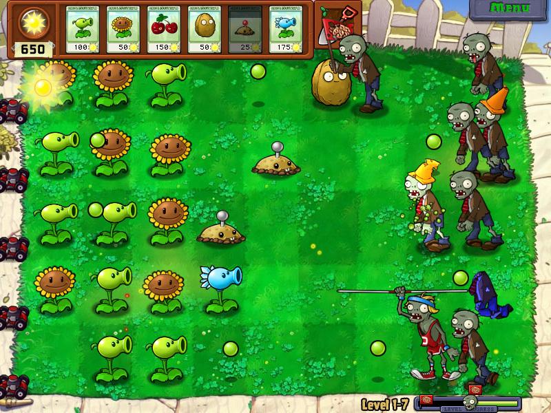 plants vs zombies 1 0 download descargar