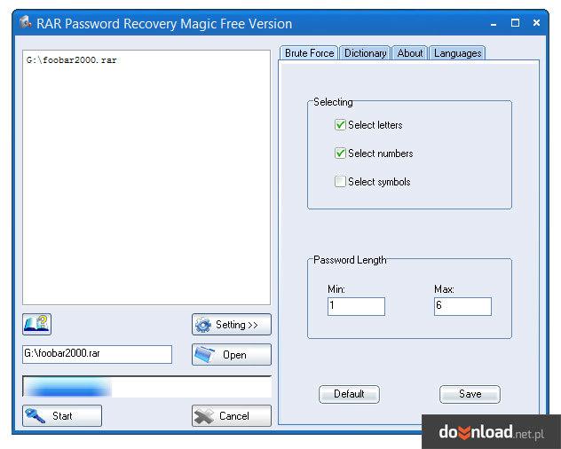 AAPR PRO 4.53 Проограма для взлома паролей Zip,RAR 12,7MB. Скачать бесплат
