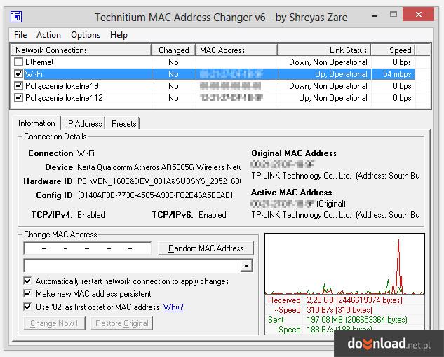 Technitium MAC Address Changer 6 0 Download | Descargar | Ferramentas IP